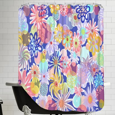 Floral Blues-1 Shower Curtain