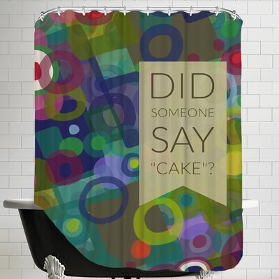 Say Cake Shower Curtain