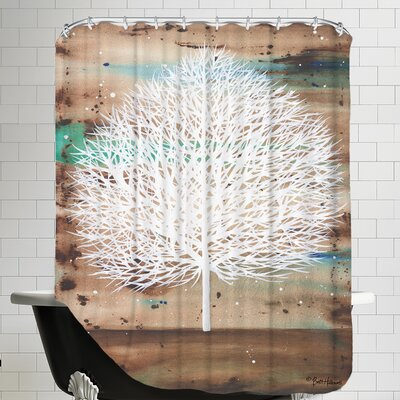 The Aurora Watcher Shower Curtain