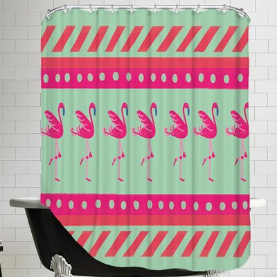 FlamingoLayout Shower Curtain