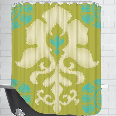Ikat Teal Shower Curtain
