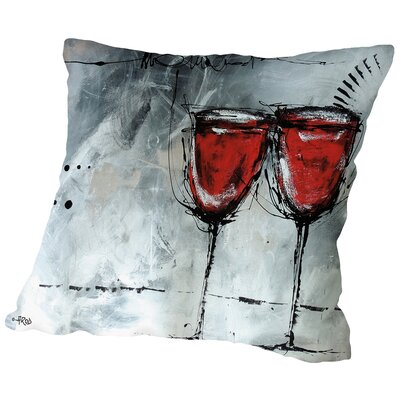 Vino 7 Throw Pillow Size: 14 H x 14 W x 2 D