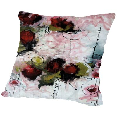 Eruptus Floral Throw Pillow Size: 18