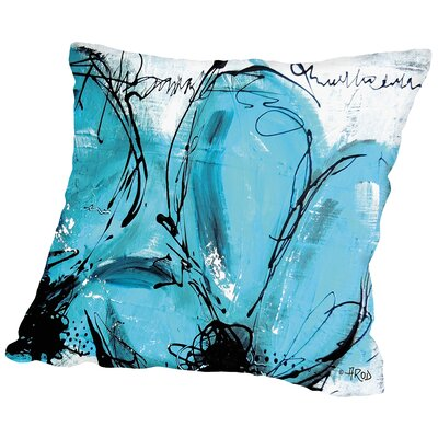 Fleurs 100% Cotton Throw Pillow Size: 18 H x 18 W x 2 D