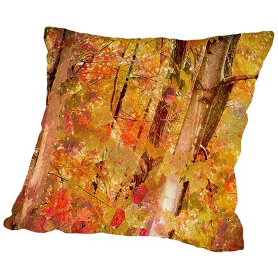Fall Forest Throw Pillow Size: 14 H x 14 W x 2 D