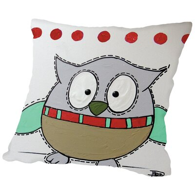 Owl 3 Throw Pillow Size: 16 H x 16 W x 2 D