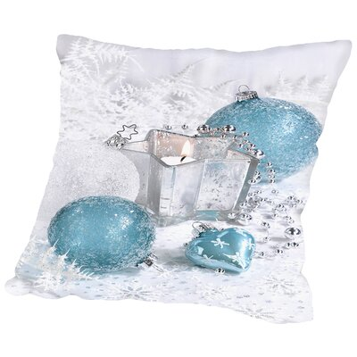 Festive Ornaments Throw Pillow Size: 18 H x 18 W x 2 D