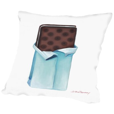 Ice Cream Sandwich Throw Pillow Size: 16 H x 16 W x 2 D