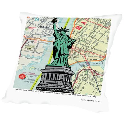 Statue of Liberty - Nyc Throw Pillow Size: 18 H x 18 W x 2 D