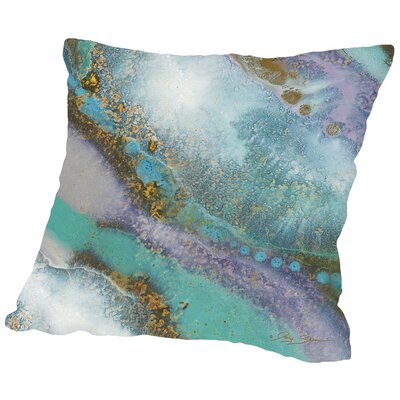 Marble C Throw Pillow Size: 16 H x 16 W x 2 D