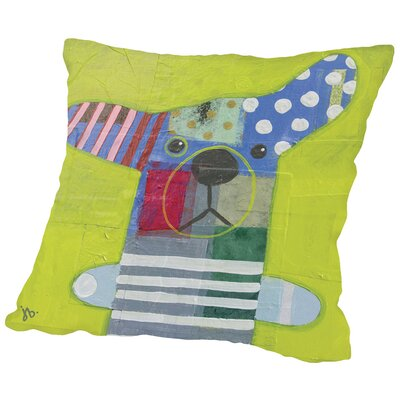 Dog (2) Throw Pillow Size: 16 H x 16 W x 2 D