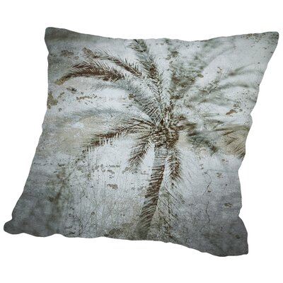 Palm on Concrete Throw Pillow Size: 16 H x 16 W x 2 D