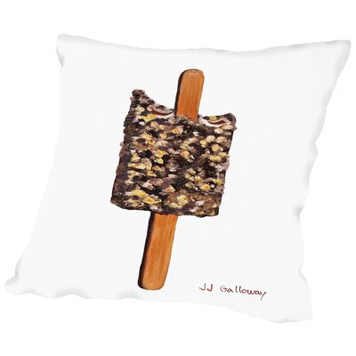 Chocolate AClair Ice Cream Bar Throw Pillow Size: 20 H x 20 W x 2 D