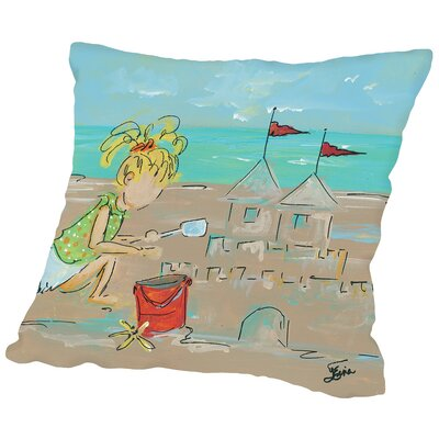 Sandcastles Throw Pillow Size: 18 H x 18 W x 2 D