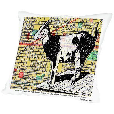 Urban Goat Portland Throw Pillow Size: 14 H x 14 W x 2 D