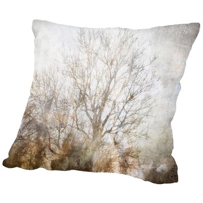 Winter In Champagne Throw Pillow Size: 14 H x 14 W x 2 D