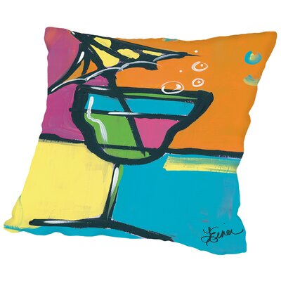 Happy Hour II Throw Pillow Size: 14 H x 14 W x 2 D