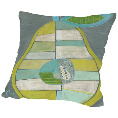 Pear Throw Pillow Size: 14 H x 14 W x 2 D