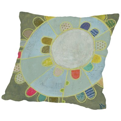 Flower Inside a Flower II Throw Pillow Size: 18 H x 18 W x 2 D