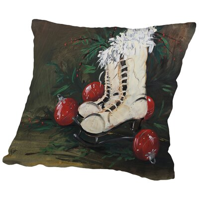 Ice Skates Throw Pillow Size: 18 H x 18 W x 2 D