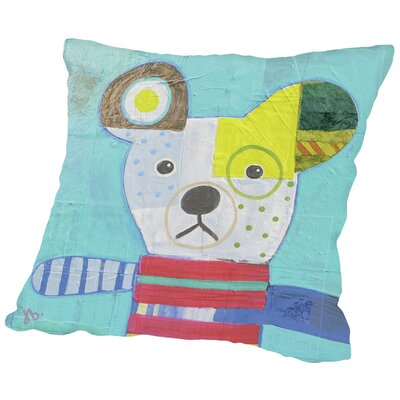 Dog Throw Pillow Size: 16 H x 16 W x 2 D
