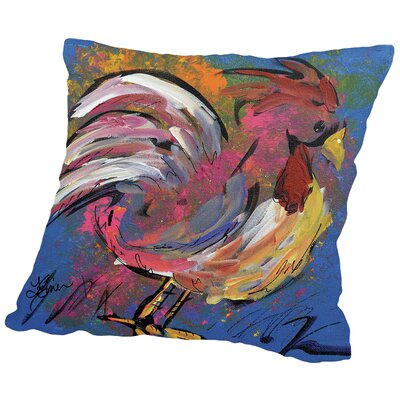 Funky Chicken Throw Pillow Size: 18 H x 18 W x 2 D