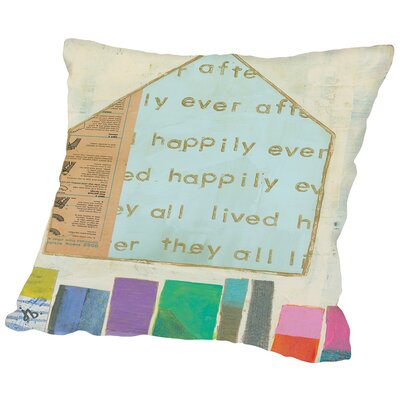 Happy Home In Throw Pillow Size: 14 H x 14 W x 2 D