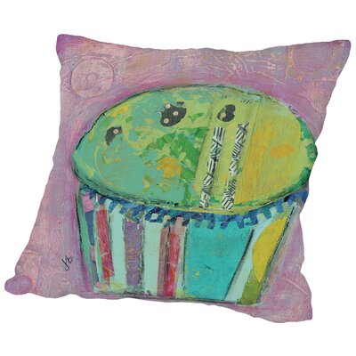 Cupcake II (Green Icing) Throw Pillow Size: 14 H x 14 W x 2 D