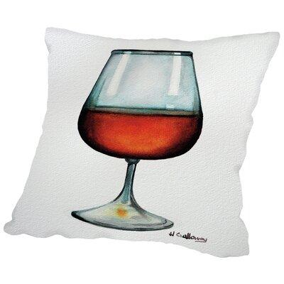 Rum Throw Pillow Size: 14 H x 14 W x 2 D