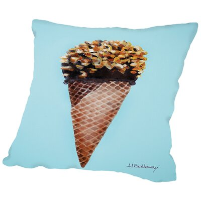 Nutty Ice Cream Cone Throw Pillow Size: 16 H x 16 W x 2 D