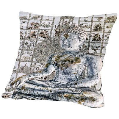 Meditation Wall Throw Pillow Size: 16 H x 16 W x 2 D