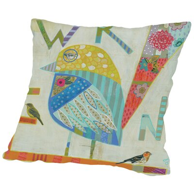 Wren Throw Pillow Size: 14 H x 14 W x 2 D