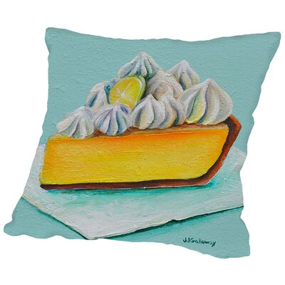 Lemon Meringue Throw Pillow Size: 18 H x 18 W x 2 D