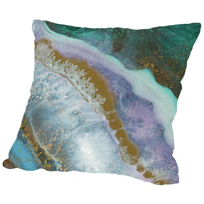 Marble D Throw Pillow Size: 18 H x 18 W x 2 D