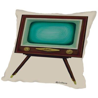 TV Set Throw Pillow Size: 20 H x 20 W x 2 D