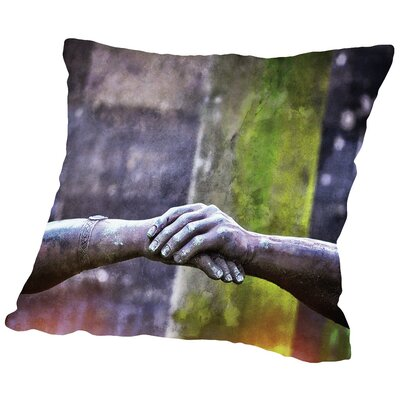 Hands of Pere Throw Pillow Size: 14 H x 14 W x 2 D