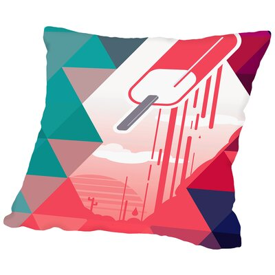Watermelon Popsicle Throw Pillow Size: 14 H x 14 W x 2 D