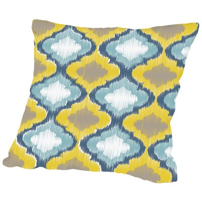Ikat Throw Pillow Size: 16 H x 16 W x 2 D