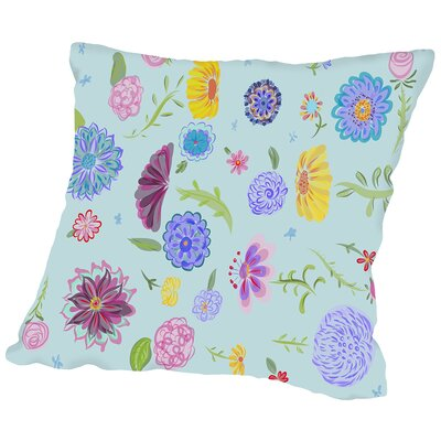 Spring Dance Teal Throw Pillow Size: 18 H x 18 W x 2 D