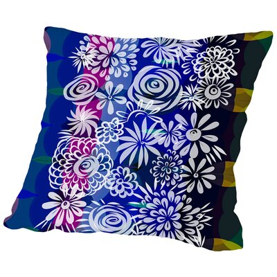 Hawaiian Floral Throw Pillow Size: 16 H x 16 W x 2 D