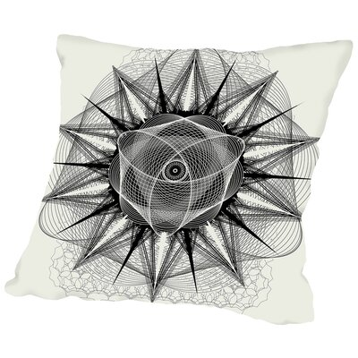 Styr Stryy_Mono Throw Pillow Size: 16 H x 16 W x 2 D