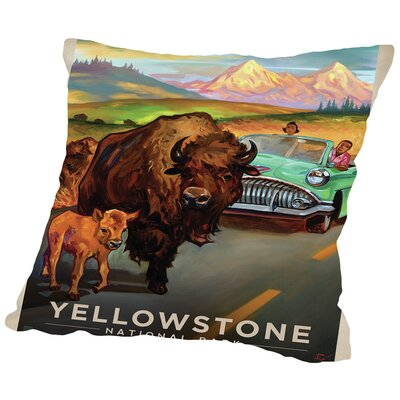 KC NP Stone Bison Throw Pillow Size: 16 H x 16 W x 2 D