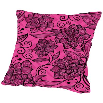 Roses Throw Pillow Size: 14 H x 14 W x 2 D
