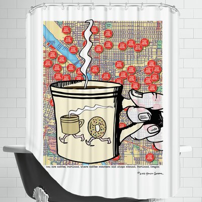 You Are Coffee Portland Shower Curtain