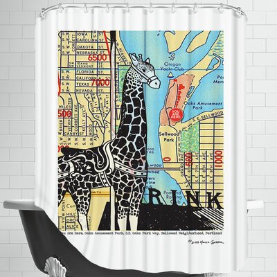Oaks Park Portland Shower Curtain