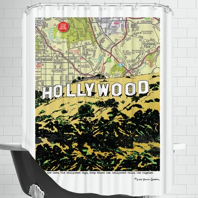 Hollywood Sign Shower Curtain