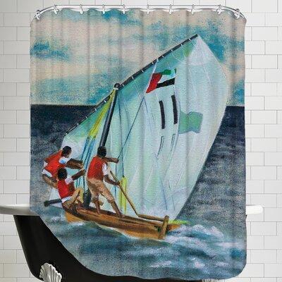 Sailing Down Shower Curtain