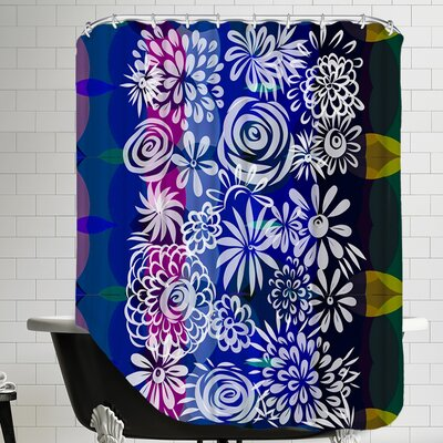 Hawaiian Floral Shower Curtain