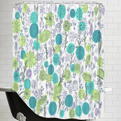 Floral Blues Shower Curtain