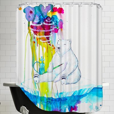 Mint (HD Print FINAL) Shower Curtain